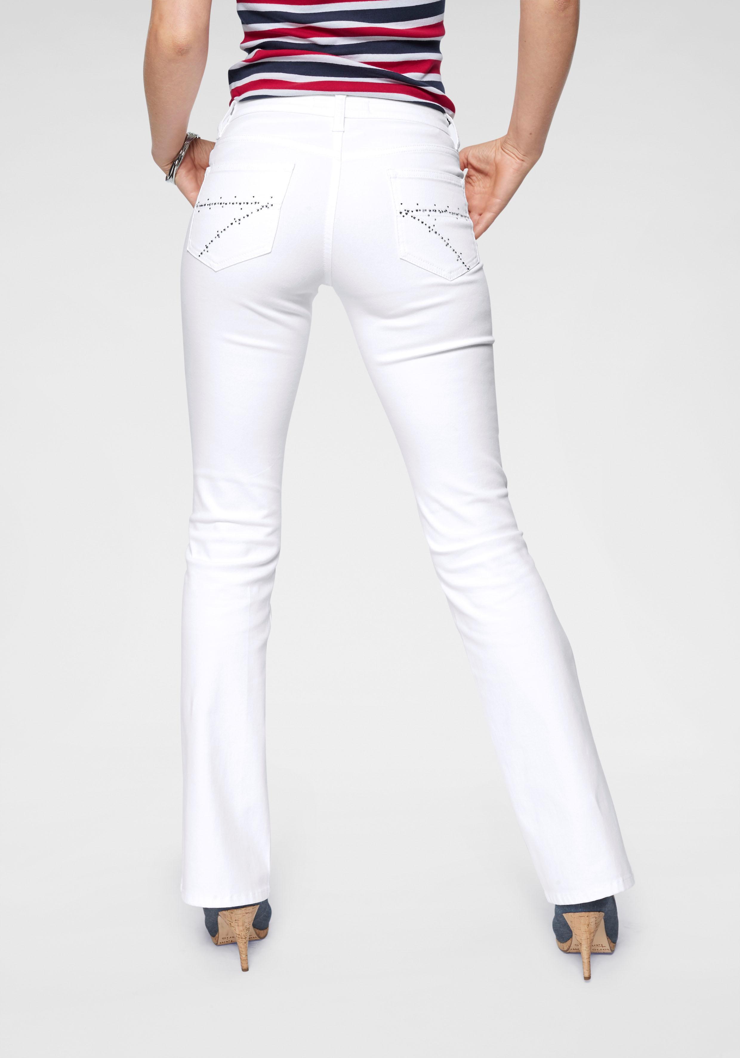 Image of Arizona Bootcut-Jeans »Taschen mit Glitzerstein-Applikation«