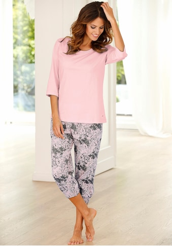 Buffalo Capri-Pyjama, mit gemusterter Hose kaufen