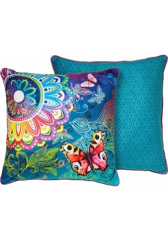hip Dekokissen »Parada«, mit Schmetterlingen und Mandalas kaufen