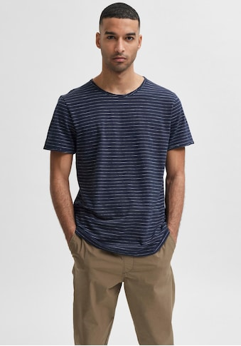 SELECTED HOMME T-Shirt »MORGAN STRIPE O-NECK TEE« kaufen