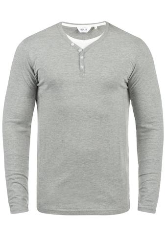 Solid Langarmshirt »Doriano«, Longsleeve im Double-Layer Look kaufen