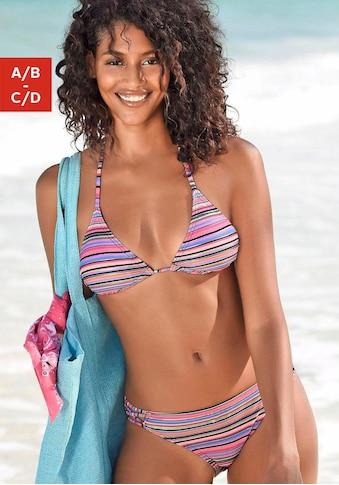 Homeboy Triangel-Bikini-Top »Kuba«, mit goldfarbenen Streifen kaufen
