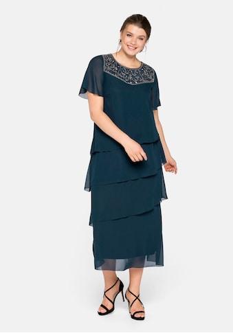 Sheego Abendkleid, in Maxilänge und Lagenlook kaufen