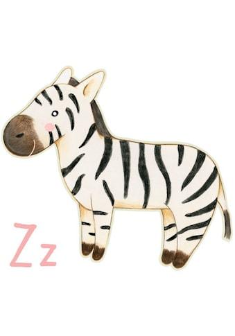 Wall - Art Wandtattoo »Zebra Buchstabe Z Tierwelt« (1 Stück) kaufen