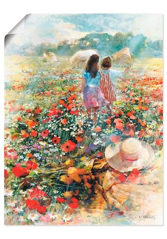Artland Wandbild »Sommer der Liebe«, Kind, (1 St.), in vielen Grössen & Produktarten... kaufen