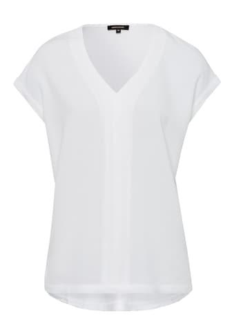 MORE&MORE Crepe Front V - Neck Shirt Active kaufen