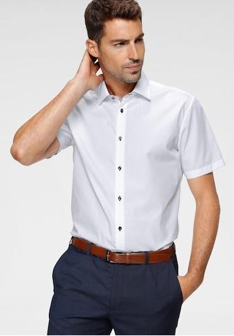 Class International Businesshemd, Kurzarmhemd, auch mit kontrastfarbenen Knöpfen kaufen