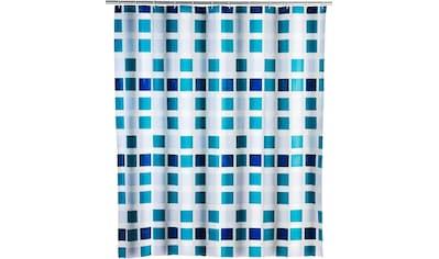 WENKO Duschvorhang »Mosaik«, Breite 180 cm, Höhe 200 cm, inklusive Vorhangsringe kaufen