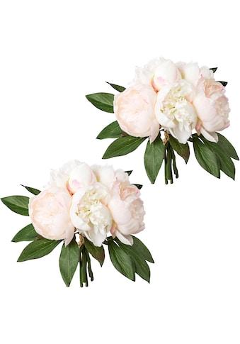 Creativ green Kunstpflanze »Bouquet aus Peonien«, 2er Set kaufen