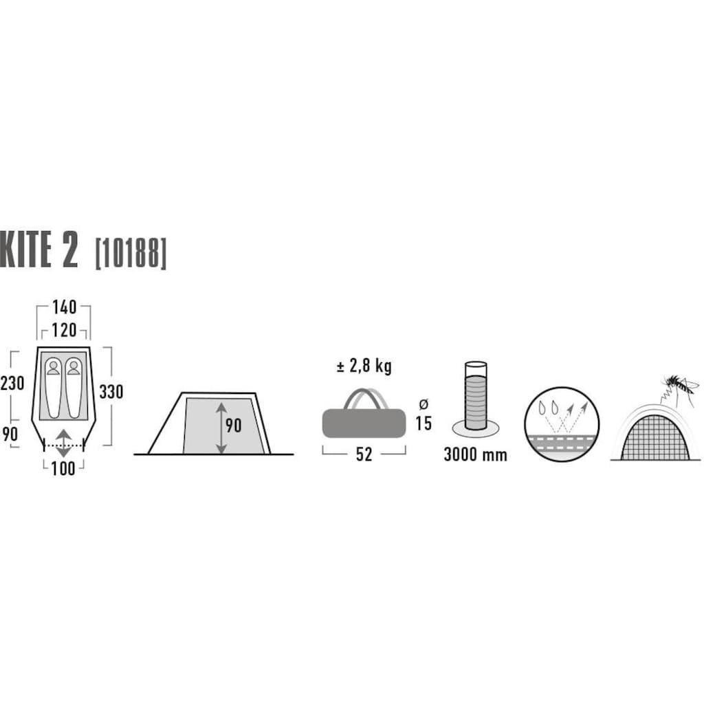 High Peak Tunnelzelt »Kite 2«, 2 Personen, (mit Transporttasche)