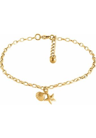 Firetti Fusskette »Seestern und Muschel, gelbgoldfarben« kaufen