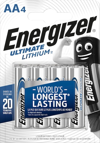 Energizer Batterie »Ultimate Lithium Mignon (AA) 4 Stück«, (4 St.) kaufen