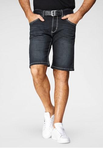 Pioneer Authentic Jeans Jeansbermudas »Duke«, mit dickerem Kontrastgarn kaufen