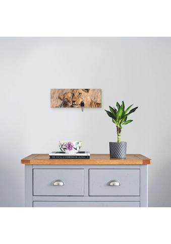 Artland Schlüsselbrett »Grosser Löwenbruder«, aus Holz mit 4 Schlüsselhaken –... kaufen