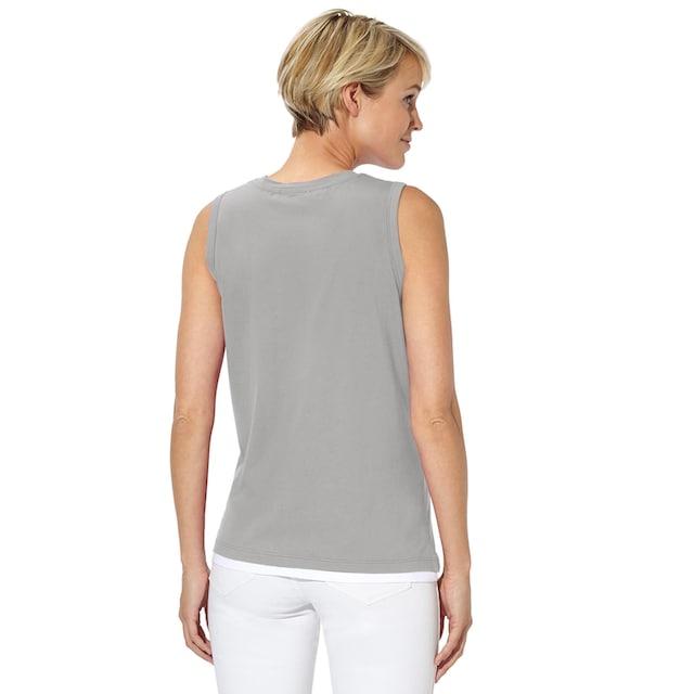 Collection L. Shirttop in der flotten 2-in-1-Optik