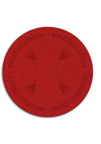 Wall-Art Tischdecke »Rote Weihnachtsbaumdecke Rund« kaufen