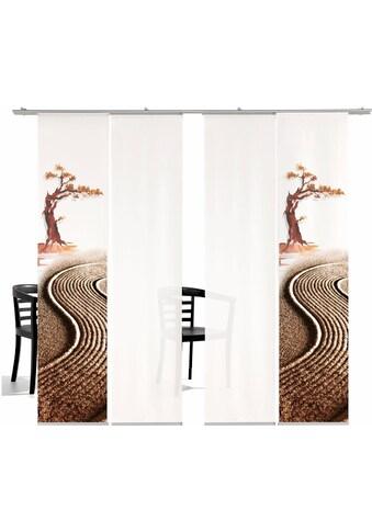 Schiebegardine, »Bonsai HA«, emotion textiles, Klettband 4 Stück kaufen