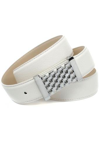 Anthoni Crown Ledergürtel, mit Fashion-Koppelschliesse, in Gitter-Optik kaufen