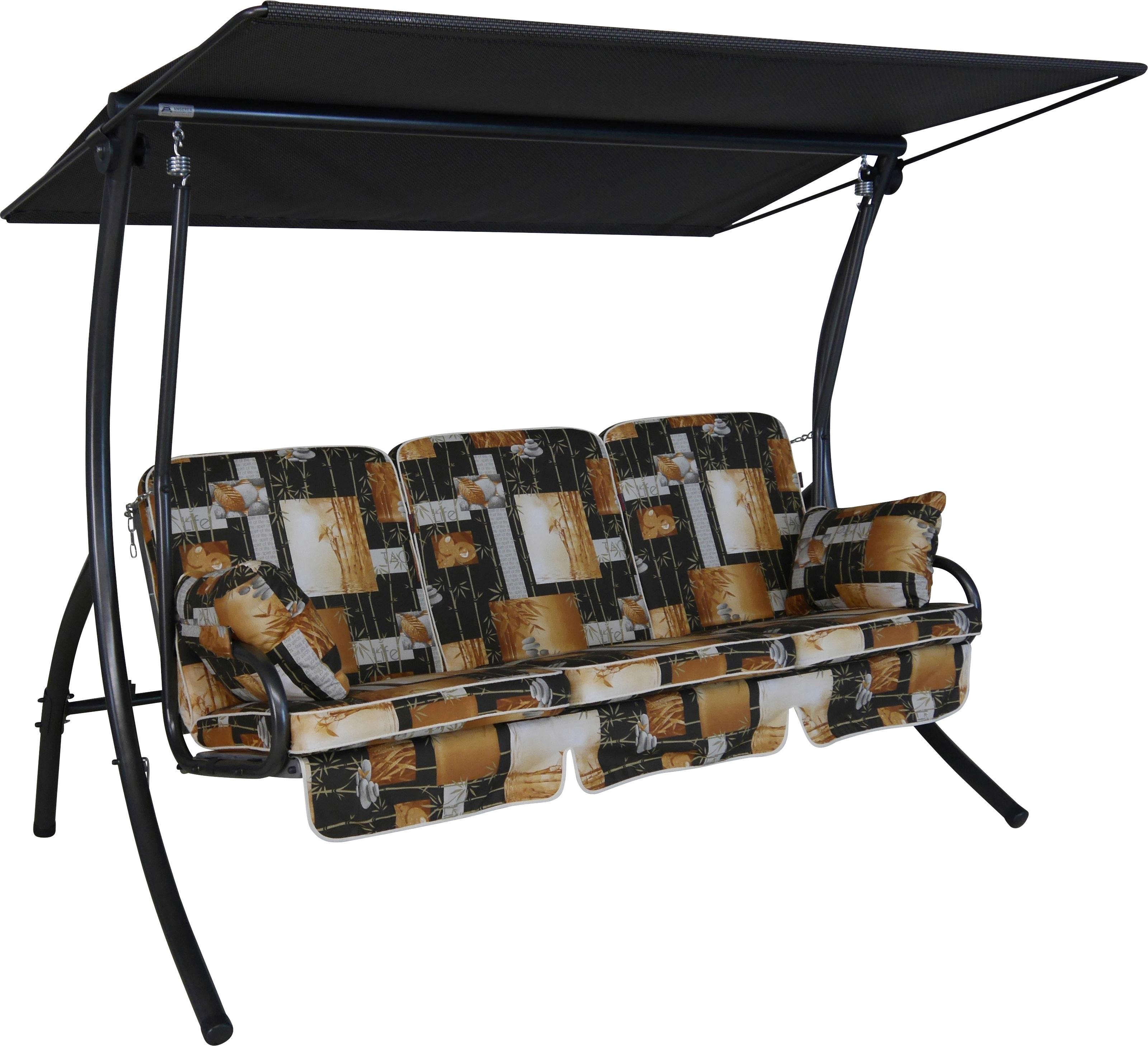Image of ANGERER FREIZEITMÖBEL Hollywoodschaukel »Bambus«, 3-Sitzer, braun