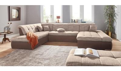 DOMO collection Wohnlandschaft »PB Moric«, XXL, wahlweise mit Bettfunktion und Armteilverstellung, frei im Raum stellbar kaufen