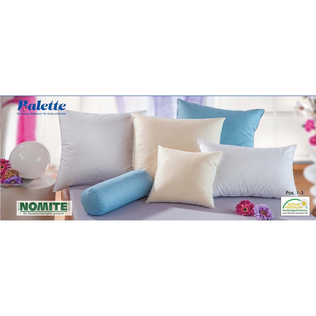 Balette Kopfkissen »Kissen, Balette«, Bezug: 100% Baumwolle, (1 St.)