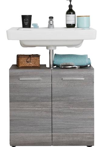 trendteam Waschbeckenunterschrank »Skin«, Höhe 56 cm, Badezimmerschrank mit Fronten in Hochglanz- oder Holzoptik, mit Siphonausschnitt kaufen