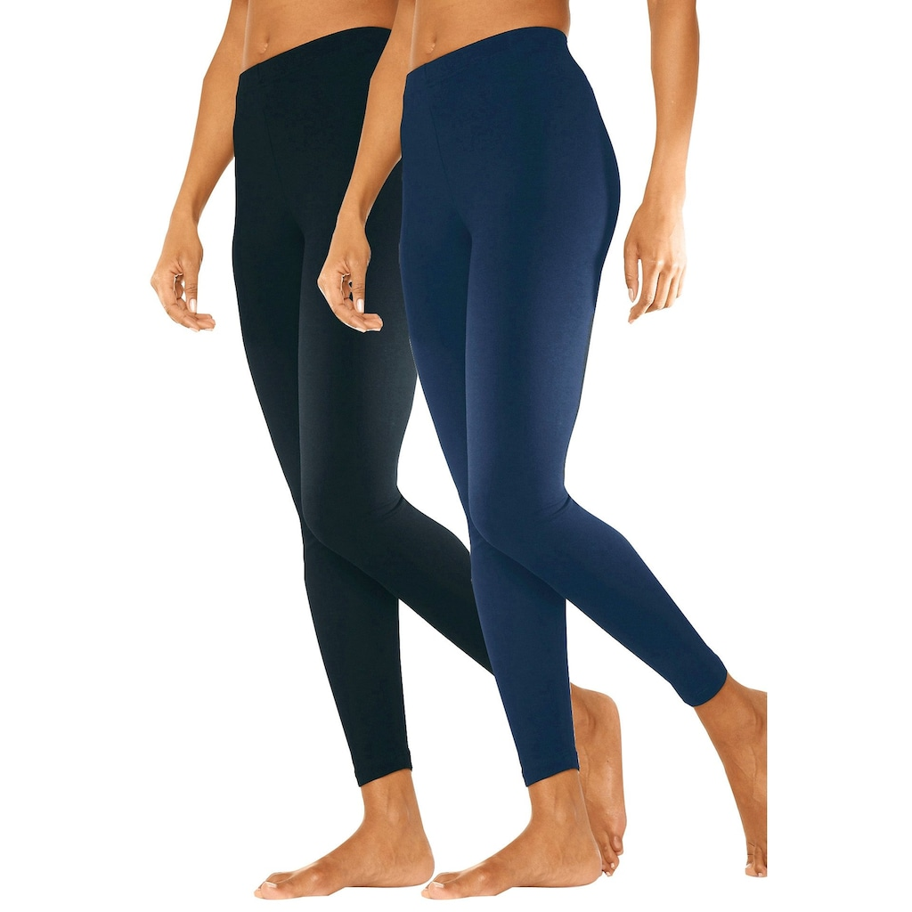 vivance active Leggings, (2er-Pack), mit Gummibund