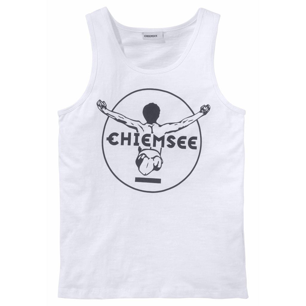 Chiemsee Tanktop, mit Logo-Druck in Kontrast