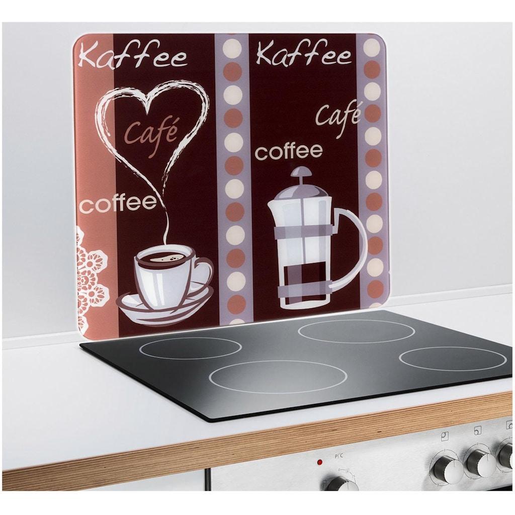 WENKO Schneide- und Abdeckplatte »Kaffeeduft«, mobile Arbeitsfläche nutzbar