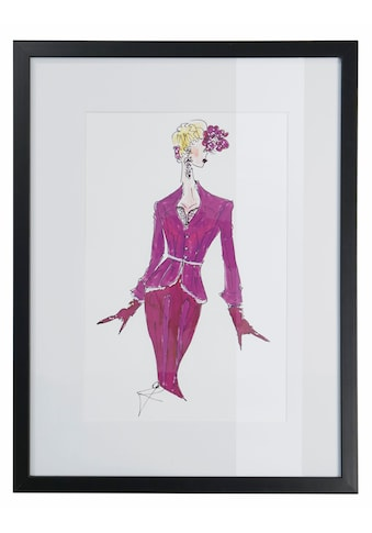Guido Maria Kretschmer Home&Living Bild »Modezeichnung«, gerahmt kaufen