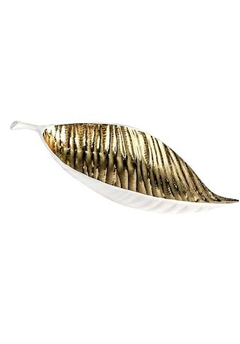 GILDE Dekoschale »Schale Sagrada, weiss/goldfarben«, Breite 40 cm, aus Keramik,... kaufen
