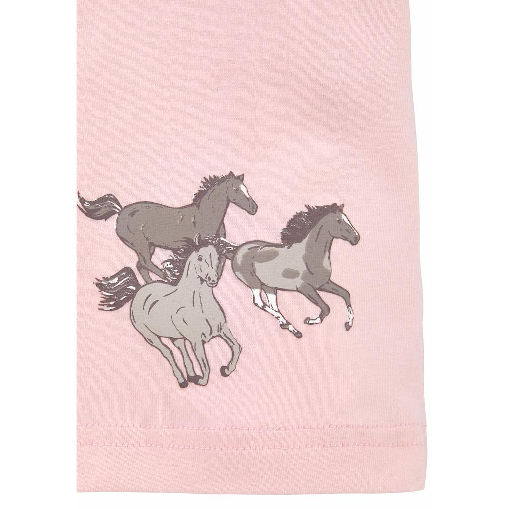 petite fleur Unterhemd »Achseltop«, mit Pferdedruck und weicher Spitze