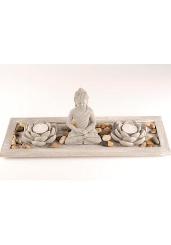 Home affaire Buddhafigur, Buddha auf Tablett (5-tlg.) kaufen