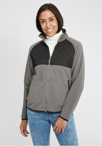 OXMO Kapuzensweatjacke »Malin«, Fleece Übergangsjacke mit Steppmuster kaufen