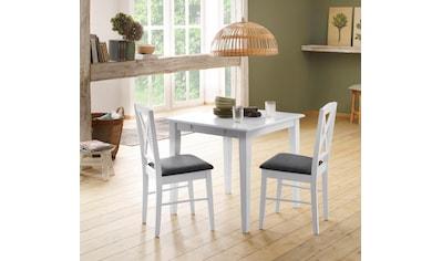 Home affaire Esszimmerstuhl »Sonoma«, 2er Set, mit einem schönen anthrazitfarbenen Webstoff Bezug auf der Sitzfläche, Sitzhöhe 48 cm kaufen