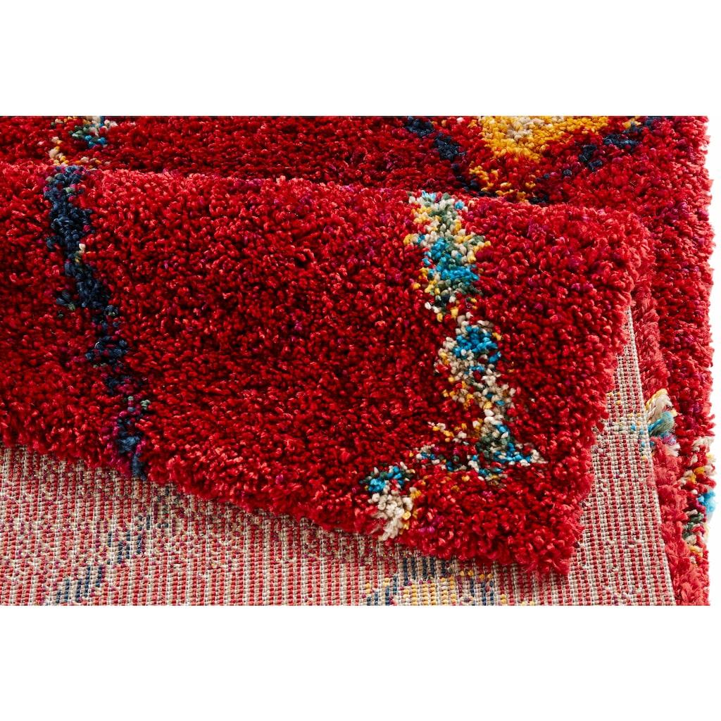 MINT RUGS Hochflor-Teppich »Geometric«, rechteckig, 30 mm Höhe, weiche Haptik, Wohnzimmer