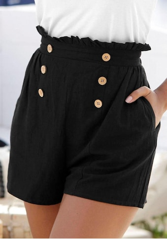 LASCANA Shorts, im Paperbag-Look kaufen