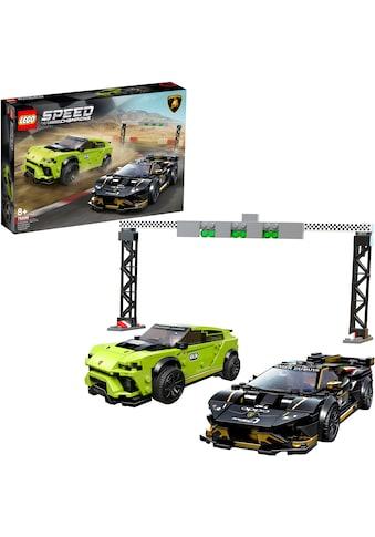 "LEGO® Konstruktionsspielsteine ""Lamborghini Urus ST - X & Lamborghini Huracán Super Trofeo EVO (76899), LEGO® Speed Champions"", (663 - tlg.) kaufen"