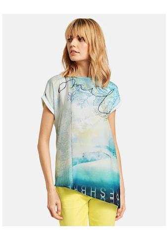 Taifun T - Shirt Kurzarm Rundhals »Blusenshirt mit asymmetrischem Saum« kaufen