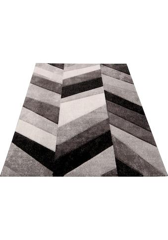 merinos Teppich »BELIS PARKETT«, rechteckig, 13 mm Höhe, handgearbeiteter Konturenschnitt, Wohnzimmer kaufen