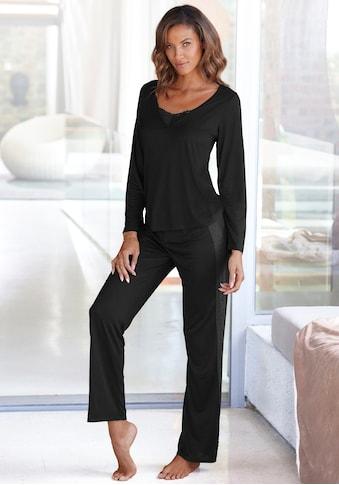 LASCANA Pyjama, mit Details aus Spitze kaufen