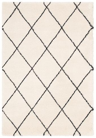 Leonique Hochflor-Teppich »Belle«, rechteckig, 35 mm Höhe, Rauten Design, weiche Haptik, Wohnzimmer kaufen