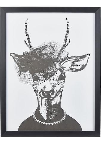 Home affaire Kunstdruck »Reh - Frau in stillvollen Abendmode« kaufen