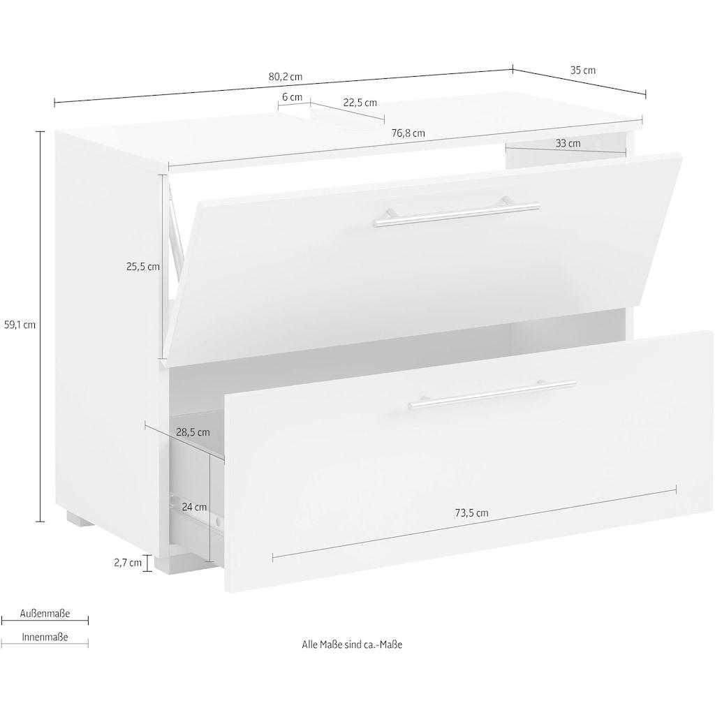 Schildmeyer Waschbeckenunterschrank »Carlos«, Breite 80 cm