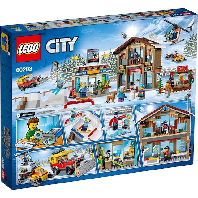 "LEGO® Konstruktionsspielsteine ""Ski Resort (60203)"", Kunststoff, (806-tlg.)"