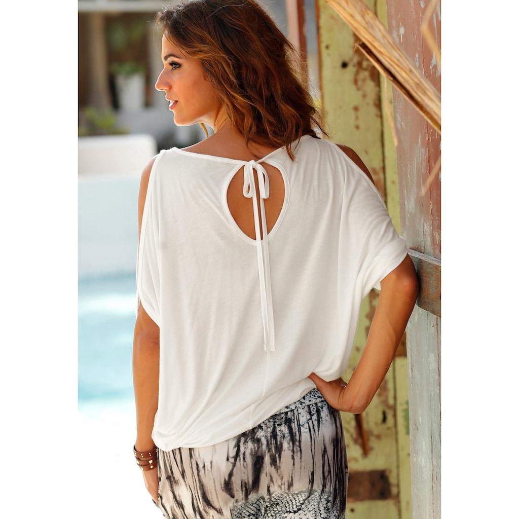 LASCANA Strandshirt, mit Schulterschlitzen