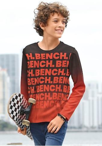 Bench. Langarmshirt, mit Farbverlauf und Logodruck kaufen
