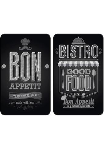 """WENKO Herd - Abdeckplatte """"Bon Appetit"""", Glas, (Set) kaufen"""