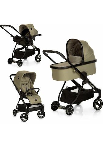 iCoo Kombi-Kinderwagen »Acrobat XL Plus Trio Set Diamond Olive«, 15 kg, ; Kinderwagen kaufen