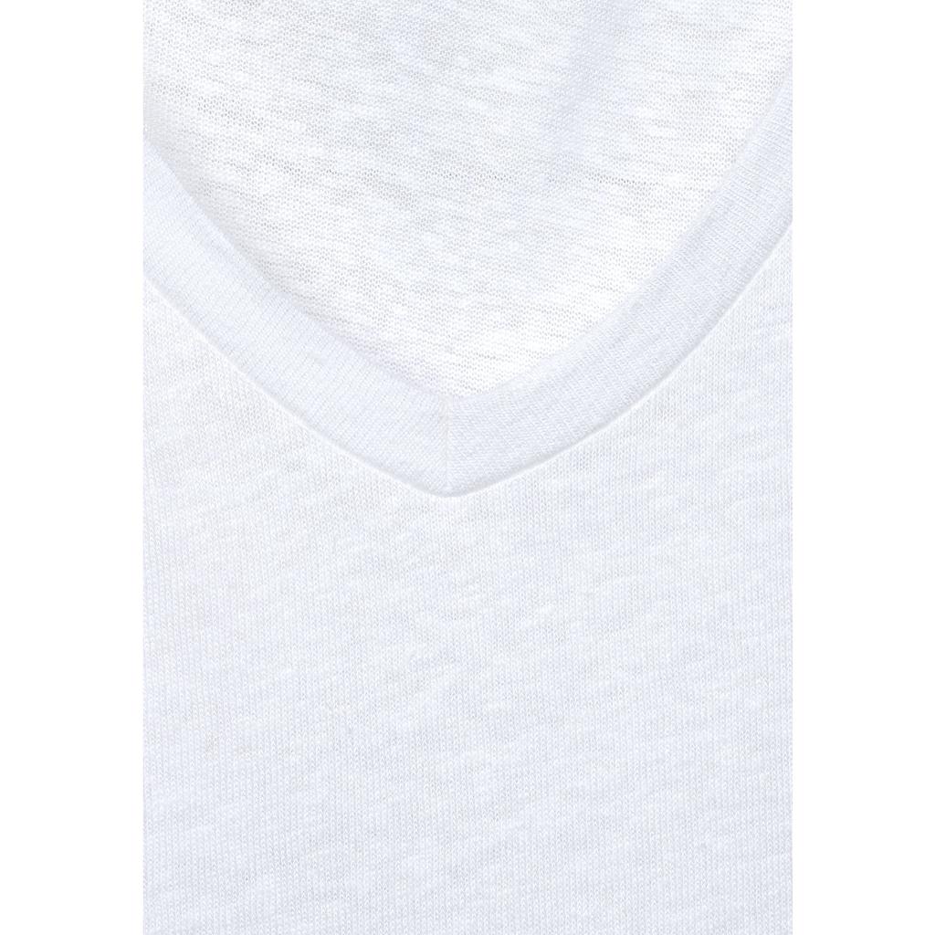 STREET ONE V-Shirt, mit Volantärmeln